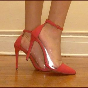 Red Liliana Pointed Toe Heels